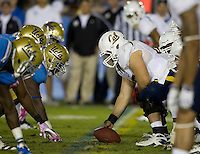 Dominic Galas of California faces UCLA defenders during the game at Rose Bowl in Pasadena, California on October 29th, 2011.  UCLA defeated California, 31-14.