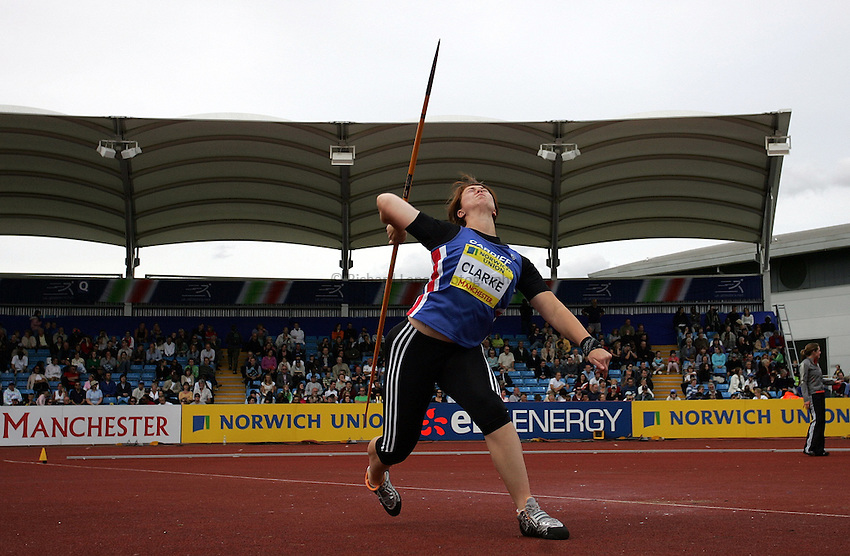 Photo: Paul Thomas/Richard Lane Photography..Norwich Union World Trials and AAA Championships. 28/07/2007...Lianne Clarke during the women's javelin.