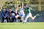 XXjob 22/04/2015 SPORT<br /> Limericks Fionn Murphy &amp; Waterford's Conor Murry in action during their munster Minor Football Semi-Final 1st Playoff in Newcastle West County Limerick.<br /> Picture  Credit Brian Gavin Press 22