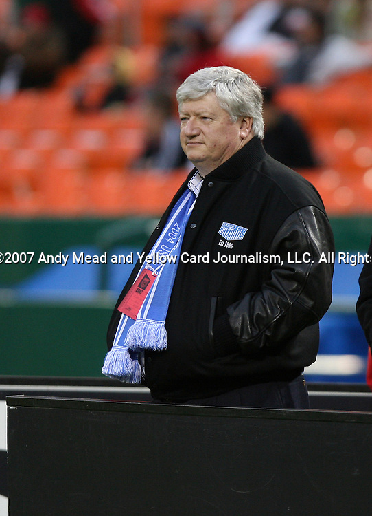 14 April 2007: Clifford W. Illig, a partner in OnGoal, LLC., the new owners of the Kansas City Wizards.  DC United lost 4-2 to the Kansas City Wizards at RFK Stadium in Washington, DC in their Major League Soccer 2007 regular season home opener.