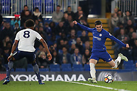 Harvey St Clair of Chelsea takes a shot at the Tottenham goal during Chelsea Under-23 vs Tottenham Hotspur Under-23, Premier League 2 Football at Stamford Bridge on 13th April 2018