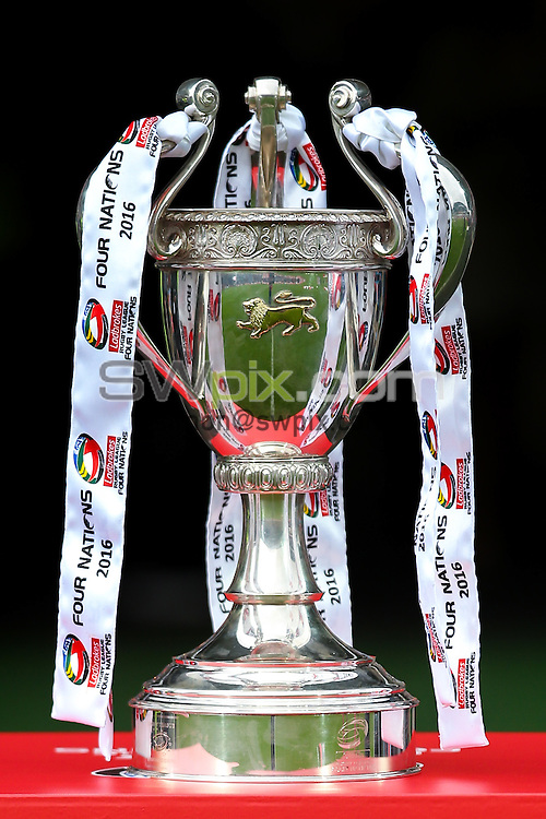 Picture by Alex Whitehead/SWpix.com - 29/10/16 - Rugby League - 2016 Ladbrokes Four Nations - England v New Zealand - The John Smith's Stadium, Huddersfield, England - Trophy.