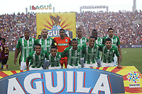 IBAGUÉ- COLOMBIA,2-06-2019:Formación del  Atlético Nacional ante Deportes Tolima durante el quinto partido de los cuadrangulares finales de la Liga Águila I 2019 jugado en el estadio Manuel Murillo Toro de la ciudad de Ibagué. /Team of  Atletico Nacional   agaisnt of Deportes Tolima during the fifht match for the quarter finals B of the Liga Aguila I 2019 played at the Manuel Murillo Toro stadium in Ibague city. Photo: VizzorImage / Felipe Caicedo / Staff
