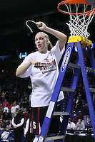 31 March 2008: Kayla Pedersen during Stanford's 98-87 win over the University of Maryland in the elite eight game of the NCAA Division 1 Women's Basketball Championship in Spokane, WA.