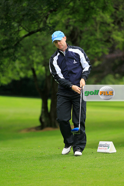 Colin Cunningham (Carton House) on the 3rd tee during round 1 of The Mullingar Scratch Cup in Mullingar Golf Club on Sunday 3rd August 2014.<br /> Picture:  Thos Caffrey / www.golffile.ie