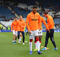 3rd November 2019; Hampden Park, Glasgow, Scotland; Scottish League Cup Football, Rangers versus Heart of Midlothian; Connor Goldson of Rangers warms up - Editorial Use