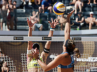 Campionati mondiali di beach volley, Roma, 17 giugno 2011..Misty May-Treanor, of the United States, right, in action against Laura Ludwig, of Germany, during the Beach Volleyball World Championship in Rome, 17 june 2011..UPDATE IMAGES PRESS/Riccardo De Luca