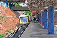 Transporte metroviario em Teresina. Piaui. 2015. Foto de Candido Neto.