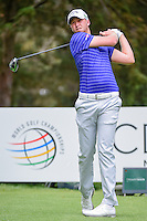 Daniel Berger (USA) watches his tee shot on 8 during round 3 of the World Golf Championships, Mexico, Club De Golf Chapultepec, Mexico City, Mexico. 3/4/2017.<br /> Picture: Golffile | Ken Murray<br /> <br /> <br /> All photo usage must carry mandatory copyright credit (&copy; Golffile | Ken Murray)