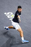 1st November 2019, AccorHotels Arena, Bercy, Paris, France; Rolex Paris Masters tennis tournament;  Novak Djokovic (SER)