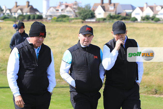 Caolan Rafferty (GB&I) on the 14th during the preview round at the Walker Cup, Royal Liverpool Golf CLub, Hoylake, Cheshire, England. 06/09/2019.<br /> Picture Thos Caffrey / Golffile.ie<br /> <br /> All photo usage must carry mandatory copyright credit (© Golffile | Thos Caffrey)
