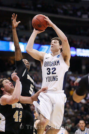 Trent Nelson  |  The Salt Lake Tribune.BYU's Jimmer Fredette in the first half as BYU faces Wofford in the NCAA Tournament, men's college basketball at the Pepsi Center in Denver, Colorado, Thursday, March 17, 2011.