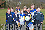 A new skills academy for u6 and u8's has been organised by Keel GAA club to focus on up and coming players at a young age. .Front L-R Tara Ryan, Laoise Foley, Lara O'Dowd, Abbie Redmond and Marc Murphy. .Back L- R Jesse O'Reilly, Paul Costello, Gearoid and Liam Evans.