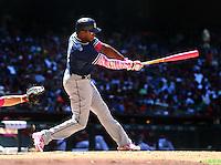 May 10, 2015; Phoenix, AZ, USA; San Diego Padres outfielder Justin Upton against the Arizona Diamondbacks at Chase Field. Mandatory Credit: Mark J. Rebilas-USA TODAY Sports
