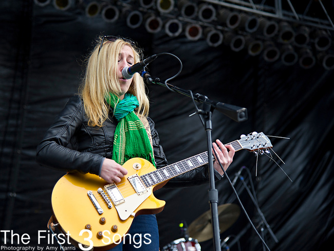 Erika Wennerstrom of Heartless Bastards performs during the The Beale Street Music Festival in Memphis, Tennessee.