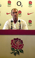 12/02/2004 Six Nations Rugby, England Captain's Press Conference, Pennyhill Park- Bagshot.Lawrence Dallaglio, England Captain's Press Conferenc .   [Mandatory Credit, Peter Spurier/ Intersport Images].
