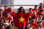 Soccer fans of Vietnam show supports for their team during the AFC Asian Cup UAE 2019 Group D match between Vietnam (VIE) and I.R. Iran (IRN) at Al Nahyan Stadium on 12 January 2019 in Abu Dhabi, United Arab Emirates. Photo by Marcio Rodrigo Machado / Power Sport Images