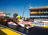 Feb 25, 2018; Chandler, AZ, USA; NHRA top fuel driver Steve Torrence (near) alongside father Billy Torrence during the Arizona Nationals at Wild Horse Pass Motorsports Park. Mandatory Credit: Mark J. Rebilas-USA TODAY Sports