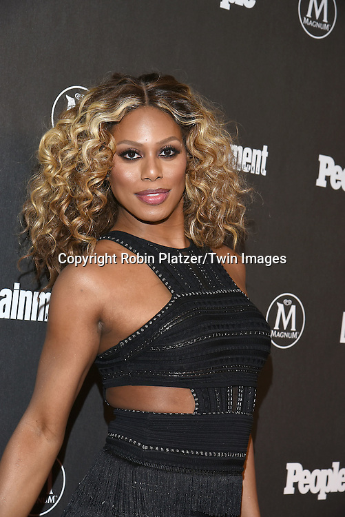 Laverne Cox attends the Entertainment Weekly &amp; PEOPLE Magazine New York Upfronts Celebration on May 16, 2016 at Cedar Lake in New York, New York, USA.<br /> <br /> photo by Robin Platzer/Twin Images<br />  <br /> phone number 212-935-0770