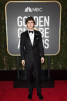 Nominated for BEST PERFORMANCE BY AN ACTOR IN A TELEVISION SERIES &ndash; DRAMA for his role in &quot;The Good Doctor,&quot; actor Freddie Highmore arrives at the 75th Annual Golden Globe Awards at the Beverly Hilton in Beverly Hills, CA on Sunday, January 7, 2018.<br /> *Editorial Use Only*<br /> CAP/PLF/HFPA<br /> &copy;HFPA/Capital Pictures