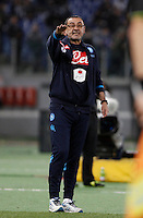 Calcio, Serie A: Lazio vs Napoli. Roma, stadio Olimpico, 3 Napoli's coach Maurizio Sarri gives indications to his players during the Italian Serie A football match between Lazio and Napoli at Rome's Olympic stadium, 3 February 2016.<br /> UPDATE IMAGES PRESS/Isabella Bonotto