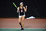 ATHENS, GA - MAY 23: Caroline Lampl of Stanford University takes on the University of Florida during the Division I Women's Tennis Championship held at the Dan Magill Tennis Complex on the University of Georgia campus on May 23, 2017 in Athens, Georgia. (Photo by Steve Nowland/NCAA Photos via Getty Images)