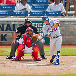 30 April 2017: New York Mets third baseman T.J. Rivera at bat in the 4th inning against the Washington Nationals at Nationals Park in Washington, DC. The Nationals defeated the Mets 23-5 in the third game of their weekend series. Mandatory Credit: Ed Wolfstein Photo *** RAW (NEF) Image File Available ***