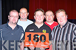 Killarney dart fans l-r: Garret Fitzgerald, Dylan Brennan, Leonard Fitzgerald, Paudie Kennelly and Alex Goggins at the darts festival in the INEC Killarney on Sunday   Copyright Kerry's Eye 2008