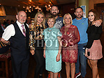 Ken and Breda Brady celebrating their 50th wedding anniversary in the Thatch with their sons Declan and Ian, Ian's wife celine and grandaughters Rebecca and Leah. Photo:Colin Bell/pressphotos.ie