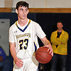 Dylan Nealis #23 of Massapequa surveys the court during the Nassau County varsity boys basketball Class AA quarterfinals against Hempstead at Massapequa High School on Wednesday, Feb. 17, 2016. Massapequa won by a score of 50-38.