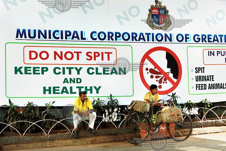Billboard of the Mumbai Municipal Corporation.