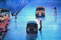 Spice Girls.Victoria Beckham aka Sposh Spice (black), Geri Halliwell aka Ginger Spice (red), Emma Bunton aka Baby Spice (pink), Melanie Chisholm aka Sporty Spice (white), Melanie Brown aka Scary Spice (gold).Londra 12/08/2012 Olympic Stadium.London 2012 Olympic Games Closing Ceremony.Olimpiadi Londra 2012 Cerimonia d chiusura.Foto Insidefoto Augusto Bizzi.