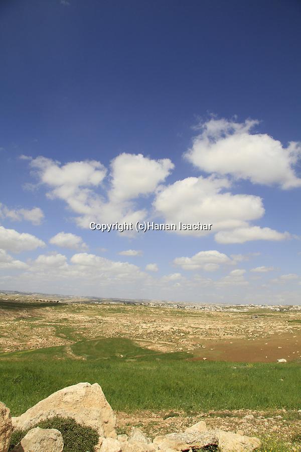 Southern Hebron Mountain, scenery near Susya