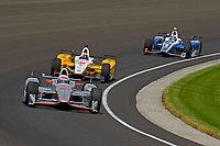 Verizon IndyCar Series<br /> Indianapolis 500 Carb Day<br /> Indianapolis Motor Speedway, Indianapolis, IN USA<br /> Friday 26 May 2017<br /> Will Power, Team Penske Chevrolet, Oriol Servia, Rahal Letterman Lanigan Racing Honda, Max Chilton, Chip Ganassi Racing Teams Honda<br /> World Copyright: F. Peirce Williams
