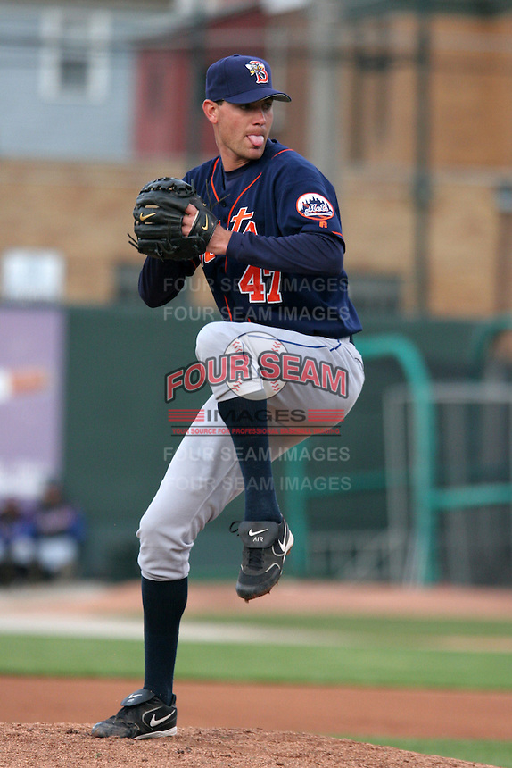 Binghamton Mets Mike Pelfrey during an Eastern League game at Jerry Uht Park on April 29, 2006 in Erie, Pennsylvania.  (Mike Janes/Four Seam Images)
