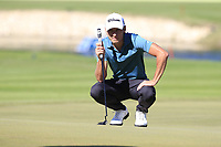 Joakim Lagergren (SWE) on the 17th green during Friday's Round 2 of the 2018 Turkish Airlines Open hosted by Regnum Carya Golf &amp; Spa Resort, Antalya, Turkey. 2nd November 2018.<br /> Picture: Eoin Clarke | Golffile<br /> <br /> <br /> All photos usage must carry mandatory copyright credit (&copy; Golffile | Eoin Clarke)