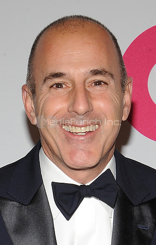 New York,NY- October 28: Matt Lauer attends the Elton John AIDS Foundation's 13th Annual An Enduring Vision Benefit at Cipriani Wall Street on October 28, 2014 in New York City In New York City on October 27, 2014 . Credit: John Palmer/MediaPunch