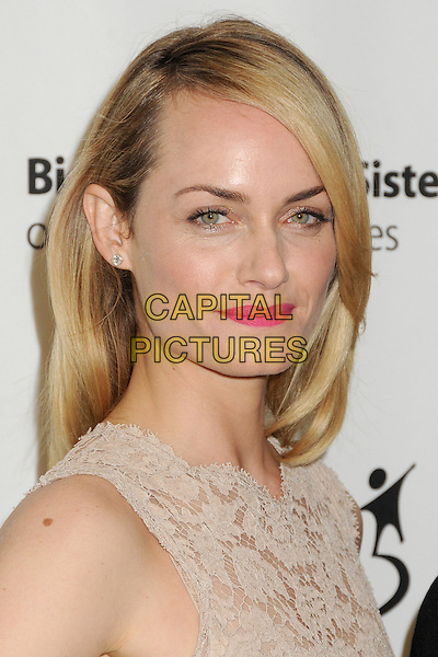Amber Valletta.Big Brothers Big Sisters of Greater Los Angeles 2013 Accessories for Success Spring Luncheon held at The Beverly Hills Hotel, Beverly Hills, California, USA, .12th April 2013..portrait headshot nude dress sleeveless beige pink lipstick make-up beauty .CAP/ADM/BP.©Byron Purvis/AdMedia/Capital Pictures