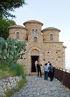 "Italy, Calabria, Stilo: small town at Monte Consolino. The ""Cattolica"", one of the most famous, byzantine churches of Calabria"