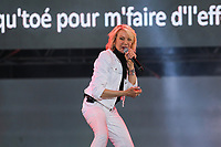 Marjo performs at the St-Jean Baptist show on the Plains of Abraham in Quebec City during the Fete nationale du Quebec, Friday June 23, 2017.