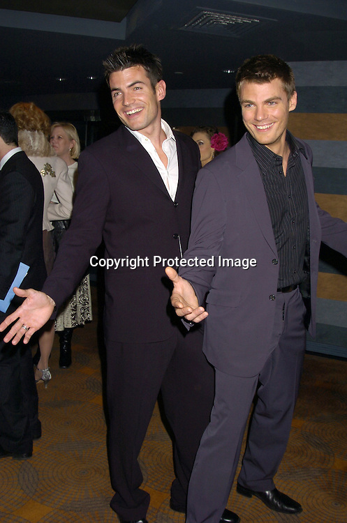 Aiden Turner and Jeff Branson ..at the Rainbow Room at the celebration for All My Childrens's 35th Anniversary after a show at Town Hall benefitting Broadway Cares Equity Fights Aids on February 7, 2005. ..Photo by Robin Platzer, Twin Images