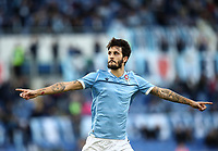 Football, Serie A: S.S. Lazio - Udinese Olympic stadium, Rome, December 1, 2019. <br /> Lazio's Luis Alberto celebrates after scorig during the Italian Serie A football match between S.S. Lazio and Udinese at Rome's Olympic stadium, Rome on December 1, 2019.<br /> UPDATE IMAGES PRESS/Isabella Bonotto