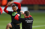 John Fleck of Sheffield Utd  warms up in KIO t-shirt during the English League One match at the Bramall Lane Stadium, Sheffield. Picture date: November 19th, 2016. Pic Simon Bellis/Sportimage