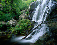 Shenandoah National Park, VA<br /> Dark Hollows Falls a 70 foot series of cascades flows over four risers of greenstone to the Rose River
