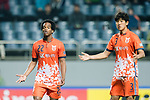 Jeju United Forward Magno Da Cruz (L) and Jeju United Defender Baek Donggyu (R) gestures during the AFC Champions League 2017 Group H match Between Jeju United FC (KOR) vs Gamba Osaka (JPN) at the Jeju World Cup Stadium on 09 May 2017 in Jeju, South Korea. Photo by Marcio Rodrigo Machado / Power Sport Images