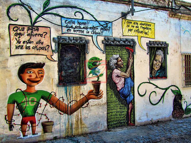 Graffittis-Barcelona.