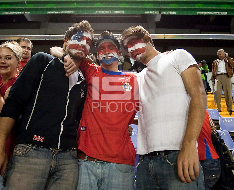 Fans.  Costa Rica defeated U.S. Men's National Team 3-1 on June 3, 2009 at Saprissa Stadium in San Jose, Costa Rica..