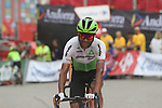 Amanuel Ghebreigzabhier (ERI) Team Dimension Data crosses the finish line at the end of Stage 20 of the La Vuelta 2018, running 97.3km from Andorra Escaldes-Engordany to Coll de la Gallina, Spain. 15th September 2018.                   <br /> Picture: Colin Flockton | Cyclefile<br /> <br /> <br /> All photos usage must carry mandatory copyright credit (© Cyclefile | Colin Flockton)