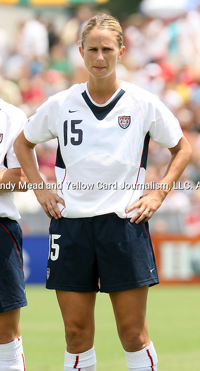 30 July 2006: Marci Miller (USA). The United States Women's National Team defeated Canada 2-0 at SAS Stadium in Cary, North Carolina in an international friendly soccer match.