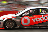 Team Vodafone's Jamie Whincup drives through Holden Hairpin in Race Two during Day Three of the Hamilton 400 Aussie V8 Supercars Round Two at Frankton, Hamilton, New Zealand on Sunday, 19 April 2009. Photo: Dave Lintott / lintottphoto.co.nz
